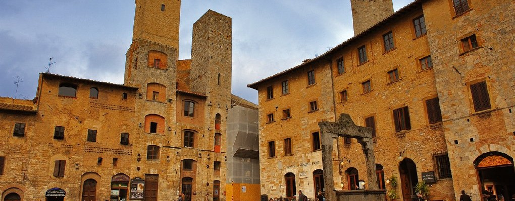 The historical centre of San Gimignano in Tuscany